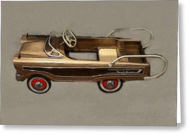 Station Wagon Greeting Cards - Classic Ranch Wagon Pedal Car Greeting Card by Michelle Calkins