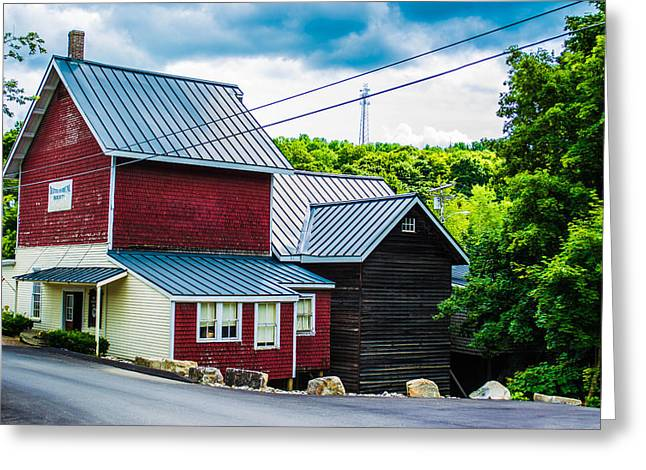 Old Maine Houses Greeting Cards - Classic Red House Greeting Card by Jason Brow