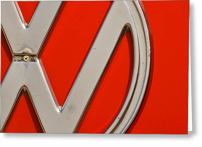 Clemente Greeting Cards - Classic Red VW Greeting Card by Andy Langeland