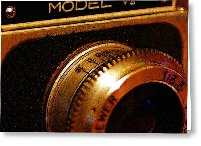 Reflex Digital Art Greeting Cards - Classic Ricohflex Camera - 20130117 - square Greeting Card by Wingsdomain Art and Photography