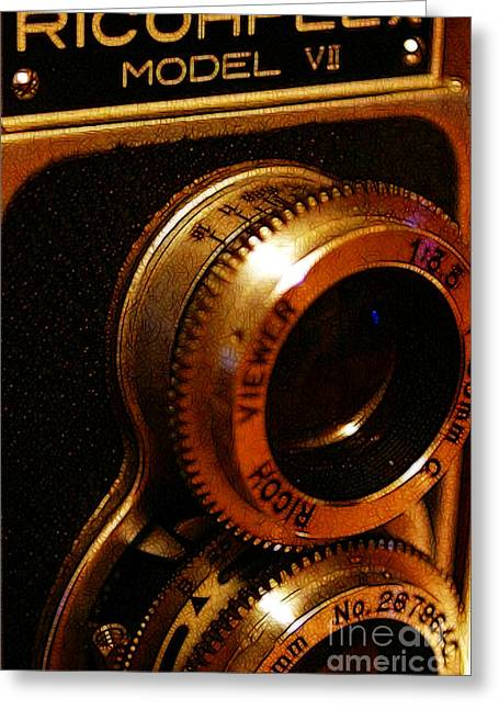 Reflex Digital Art Greeting Cards - Classic Ricohflex Camera - 20130117 Greeting Card by Wingsdomain Art and Photography