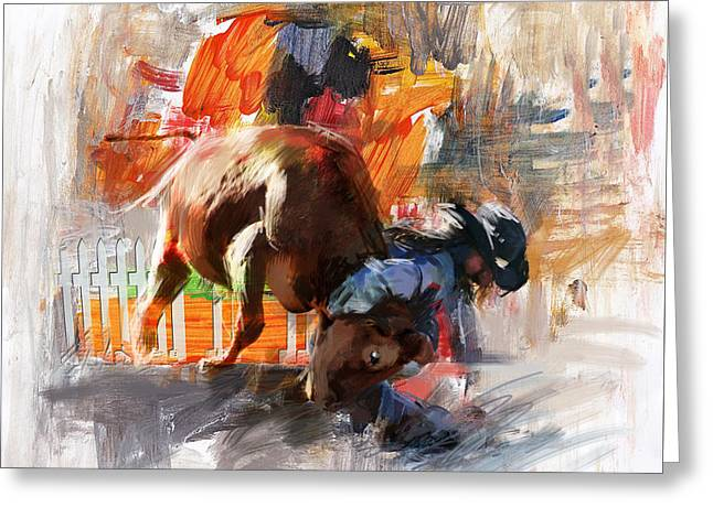 Las Vegas Art Greeting Cards - Classic Rodeo 2 Greeting Card by Maryam Mughal