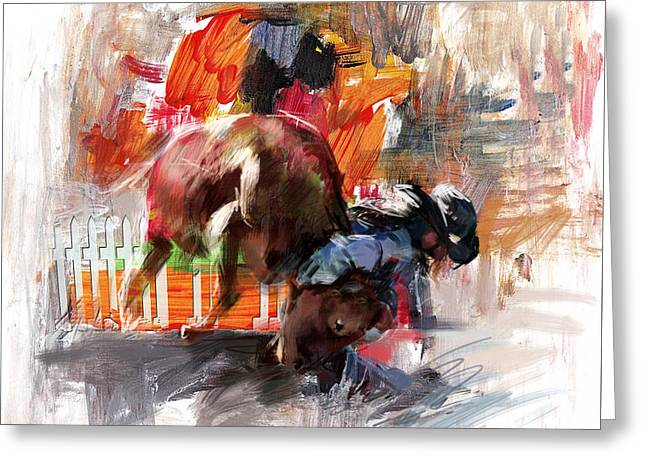Las Vegas Art Greeting Cards - Classic Rodeo 2b Greeting Card by Maryam Mughal