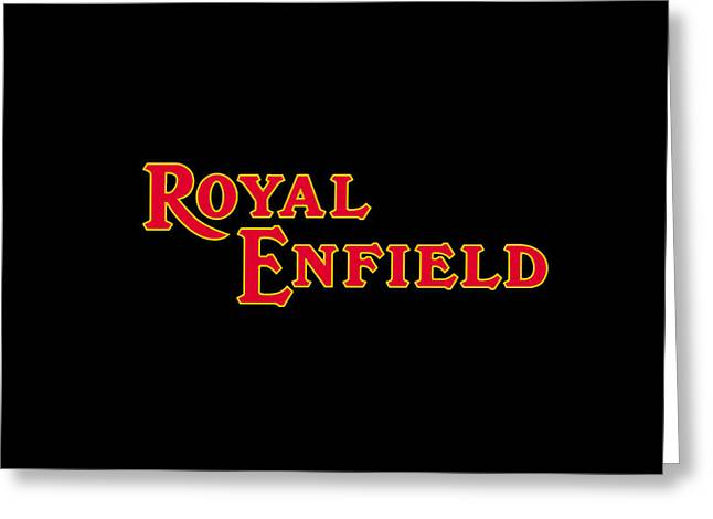 Classic Royal Enfield Phone Case Greeting Card by Mark Rogan
