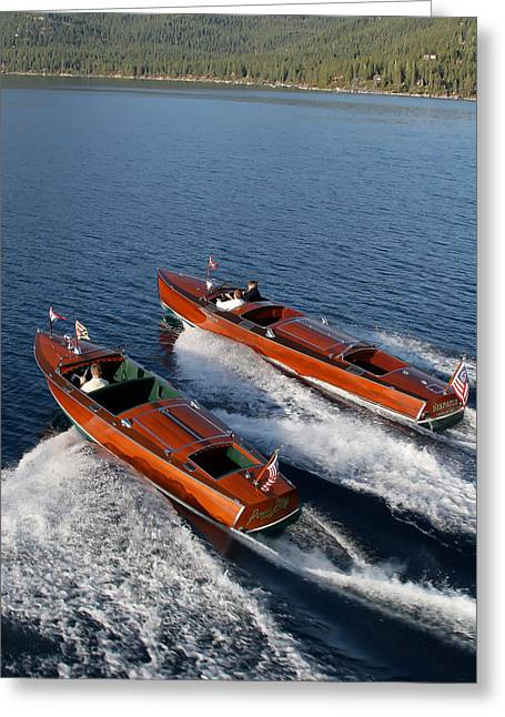 Runabout Greeting Cards - Classic Runabouts Greeting Card by Steven Lapkin
