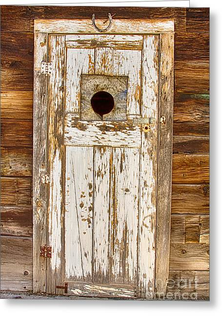 Old Door Greeting Cards - Classic Rustic Rural Worn Old Barn Door Greeting Card by James BO  Insogna