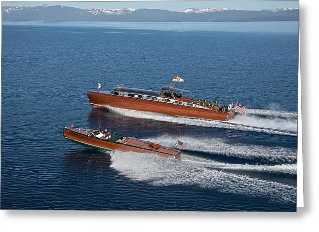 Classic Speedboats Of Lake Tahoe Greeting Card by Steven Lapkin