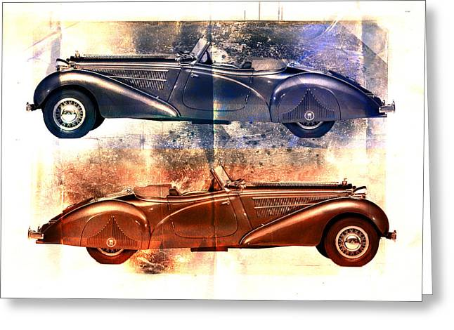 Open Car Greeting Cards - Classic Tourer Greeting Card by David Ridley