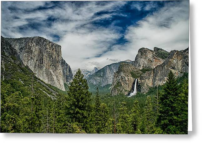Yosemite Greeting Cards - Classic Tunnel View Greeting Card by Cat Connor