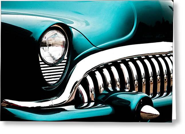 Joann Copeland-paul Greeting Cards - Classic Turquoise Buick Greeting Card by Joann Copeland-Paul