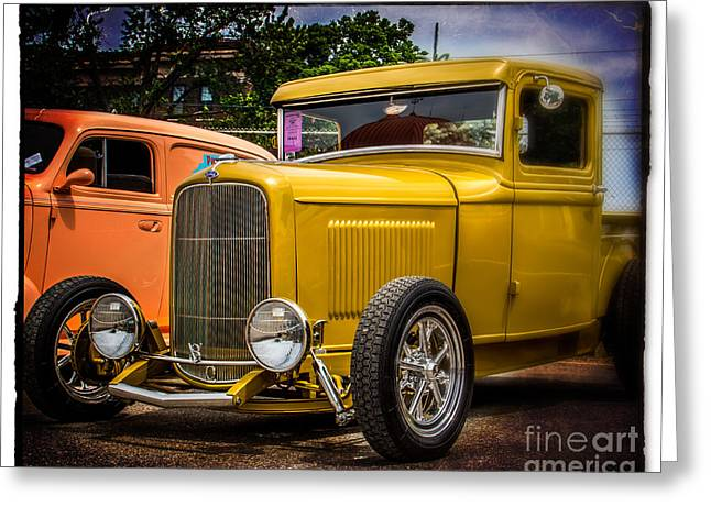 Old Truck Photography Greeting Cards - Classic V8 Truck Greeting Card by Perry Webster