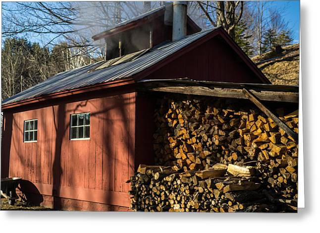Classic Vermont Maple Sugar Shack Greeting Card by Edward Fielding