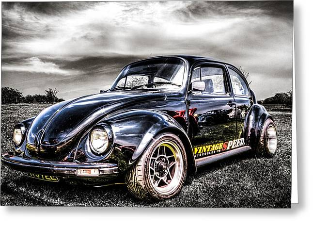 Vw Beetle Greeting Cards - Classic VW Beetle Greeting Card by Ian Hufton