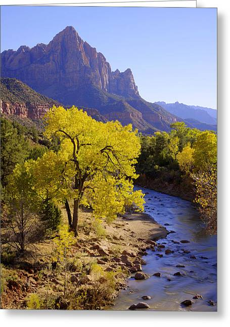 Classic Zion Greeting Card by Chad Dutson