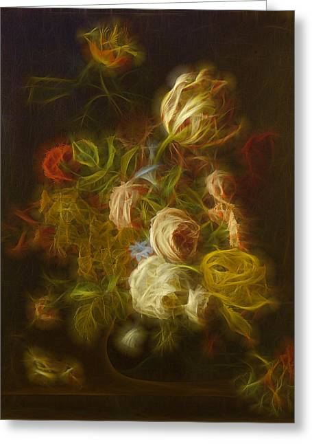 Flowers Digital Art Greeting Cards - Classica Modern - m01 Greeting Card by Variance Collections