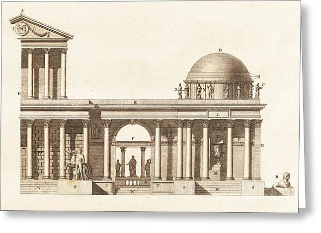 Greek Sculpture Greeting Cards - Classical Basilica Architecture Greeting Card by David Parker