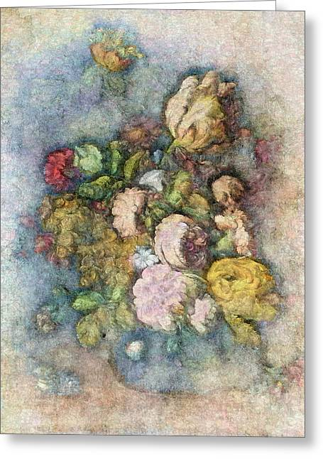 Texture Flower Greeting Cards - Classical Bouquet - v01c Greeting Card by Variance Collections