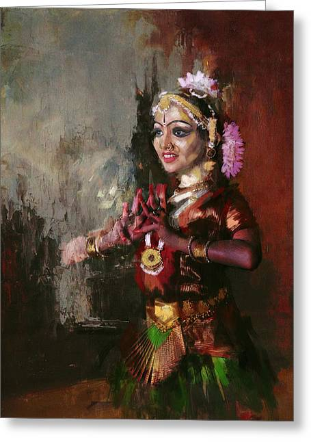 Sufi Dancer Greeting Cards - Classical Dance Art 10 Greeting Card by Maryam Mughal