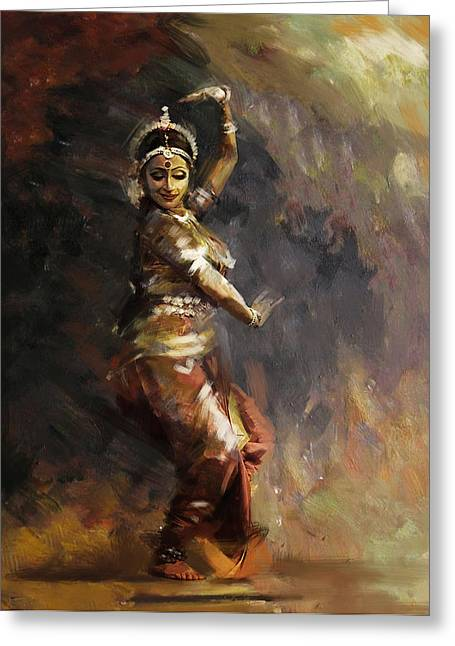 Sufi Dancer Greeting Cards - Classical Dance Art 12 Greeting Card by Maryam Mughal