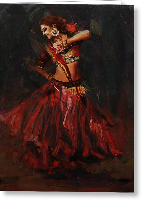 Classical Dance Art 16 Greeting Card by Maryam Mughal