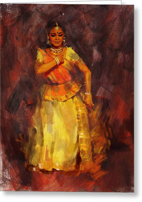 Dancer Art Greeting Cards - Classical Dance Art 18 Greeting Card by Maryam Mughal