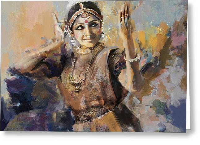 Sufi Dancer Greeting Cards - Classical Dance Art 3 Greeting Card by Maryam Mughal