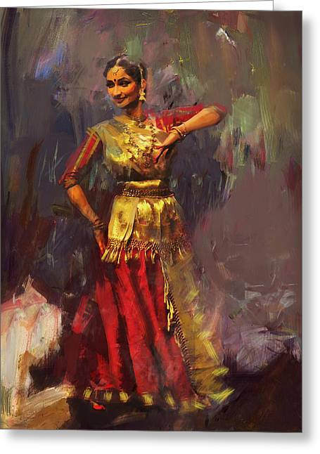 Sufi Dancer Greeting Cards - Classical Dance Art 9 Greeting Card by Maryam Mughal