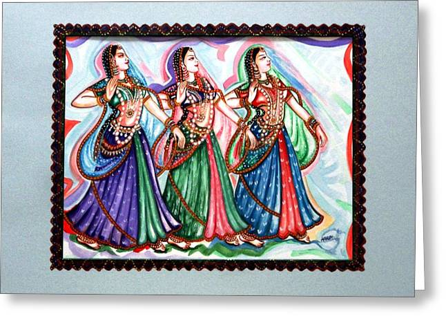 Classical Dance1 Greeting Card by Harsh Malik