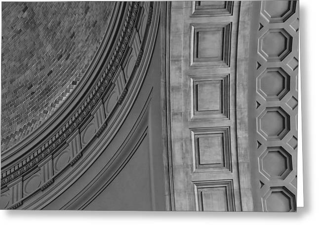Classical Dome And Vault Detail Greeting Card by Lynn Palmer