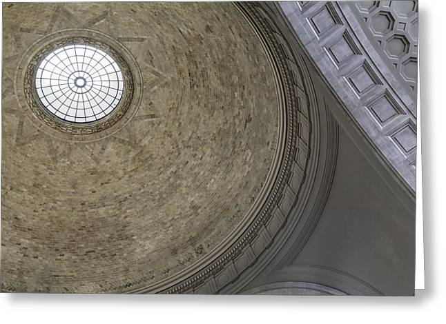 Classical Dome With Oculus Greeting Card by Lynn Palmer
