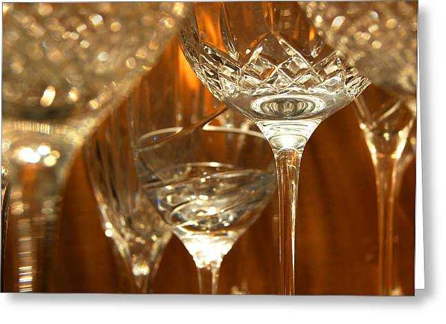 Goblet Greeting Cards - Classical Glass Greeting Card by Bill Pevlor