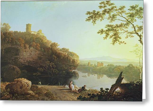 Feeding Greeting Cards - Classical Landscape View On The Arno Greeting Card by Richard Wilson