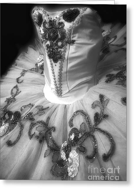 Dance Ballet Roses Photographs Greeting Cards - Classically Costumed X Monochrome Greeting Card by Cassandra Buckley