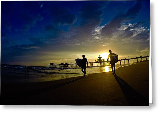 California Beach Greeting Cards - Classmates Greeting Card by Richard Larner