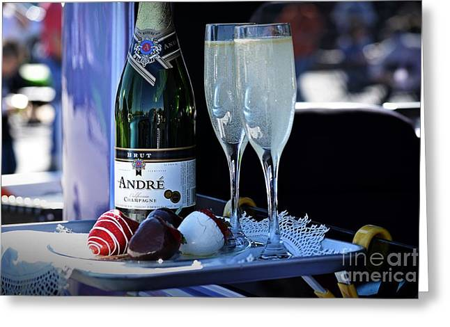 Wine Service Photographs Greeting Cards - Classy Curb Service Greeting Card by JW Hanley