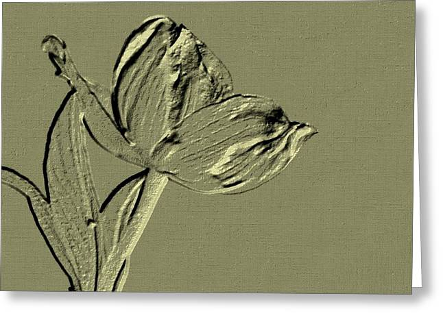 First-class Digital Art Greeting Cards - Classy Greeting Card by Maria Urso