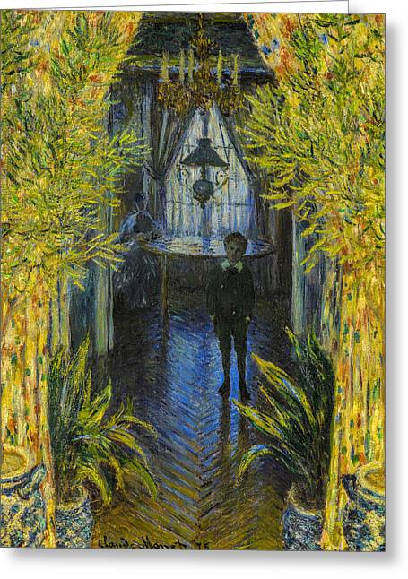 Fashion Art For House Greeting Cards - Claude Monet - A Corner of the Apartment Greeting Card by Claude Monet