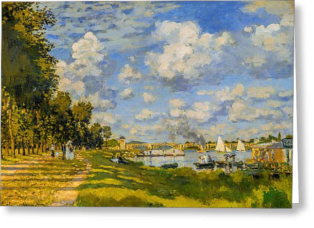 Buy Art Online Greeting Cards - Claude Monet - Bassin dArgenteuil Greeting Card by Claude Monet