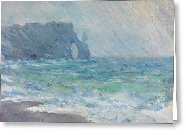 Buy Greeting Cards - Claude Monet - Regnvaer Etretat Greeting Card by Claude Monet