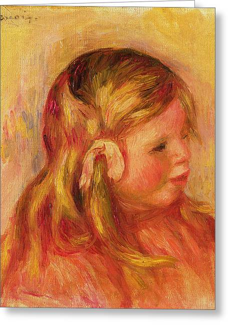 Youthful Greeting Cards - Claude Renoir Greeting Card by Pierre Auguste Renoir
