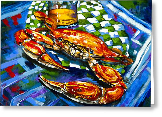 Louisiana Seafood Greeting Cards - Claw Daddy Greeting Card by Dianne Parks