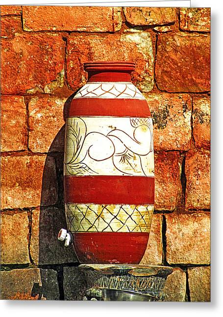 Water Vessels Greeting Cards - Clay Art Greeting Card by Prakash Ghai