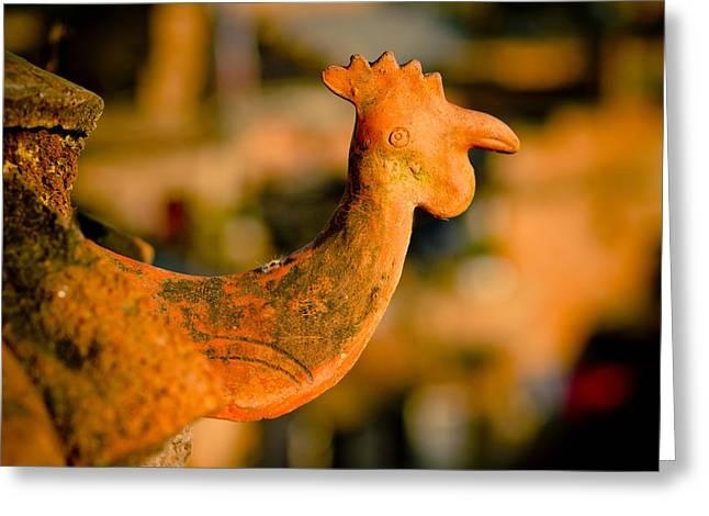 Potters Clay Greeting Cards - Clay cockerel Bhaktapur Greeting Card by Raimond Klavins