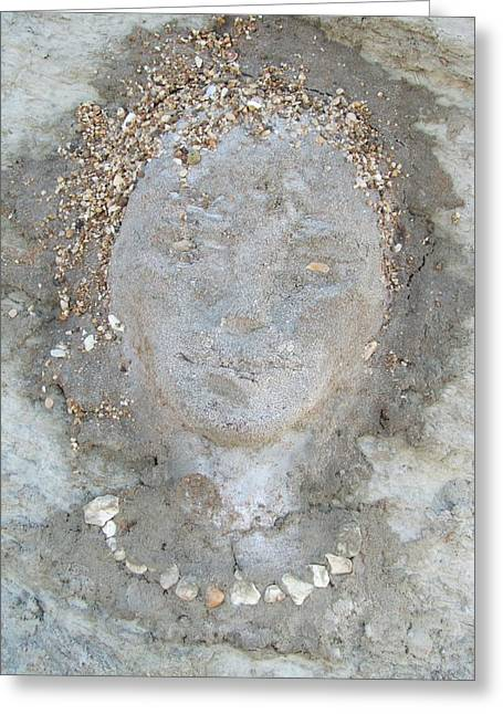 Beaches Reliefs Greeting Cards - Clay Girl Greeting Card by Elena Gushchina