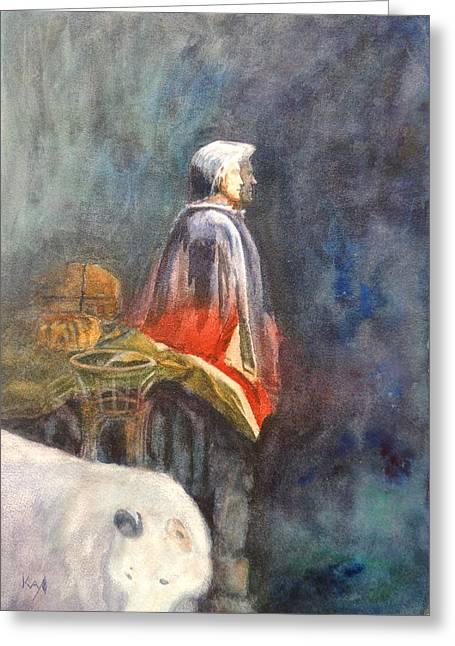 One Spirit Greeting Cards - Clay Miller Shaman Cottonwood AZ Greeting Card by Patty Kay Hall