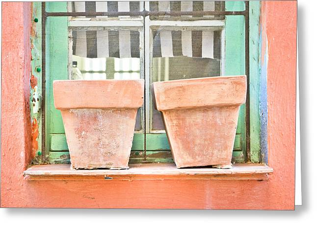 Clay Pots Greeting Card by Tom Gowanlock