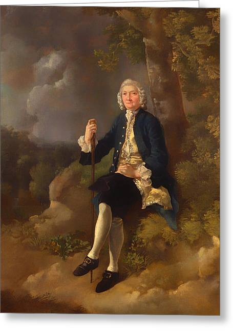 Clayton Greeting Cards - Clayton Jones Greeting Card by Thomas Gainsborough