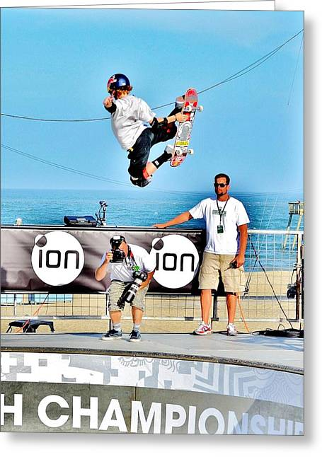 Sea View Greeting Cards - Clean Air - The Dew Tour Greeting Card by Kim Bemis