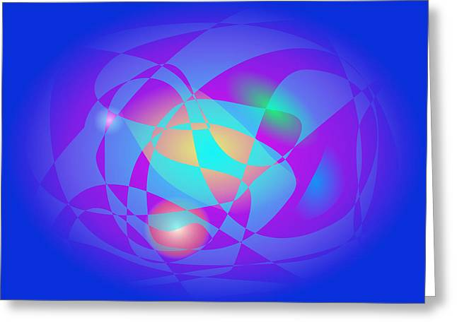 Gradations Digital Art Greeting Cards - Clean and Blue Greeting Card by Masaaki Kimura