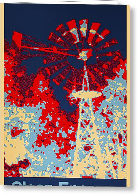 Clean Water Digital Art Greeting Cards - Clean Energy Poster Greeting Card by Barbara Snyder